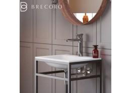 Умивальник Brecoro Frame 60 х 46 х h85 см (зі штучного каменю Silk Stone)