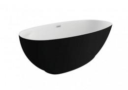 Акрилова ванна KIVI чорна матова, 165 x 75 см