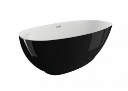 Акрилова ванна KIVI чорна глянцева, 165 x 75 см