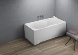 Прямокутна ванна GRACJA, 120 x 75 см