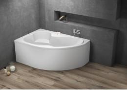 Кутова ванна MEGA ліва, 160 x 105 см