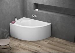 Кутова ванна STANDARD ліва, 130 x 85 см