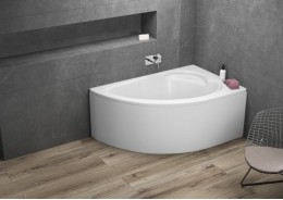 Кутова ванна STANDARD права, 130 x 85 см