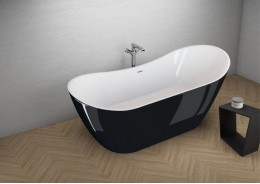 Акрилова ванна ABI чорна глянцева, 180 x 80 см