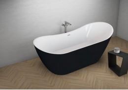 Акрилова ванна ABI чорна матова, 180 x 80 см