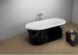 Акрилова ванна AMONA NEW чорна глянцева, 150 x 75 см