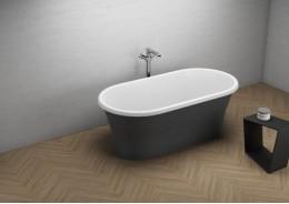Акрилова ванна AMONA NEW чорна матова, 150 x 75 см