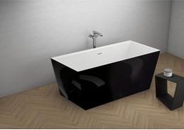 Акрилова ванна LEA чорна глянцева, 170 x 80 см