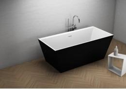 Акрилова ванна LEA чорна матова, 170 x 80 см