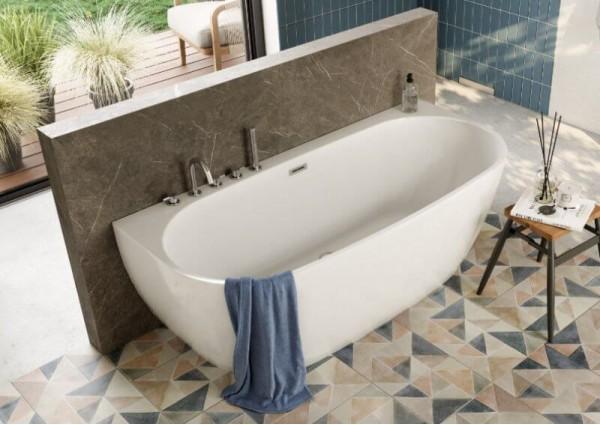 Акрилова ванна RISA біла, 160 x 80 см