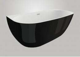 Акрилова ванна RISA чорна глянцева, 160 x 80 см
