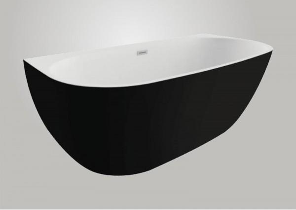 Акрилова ванна RISA чорна матова, 160 x 80 см