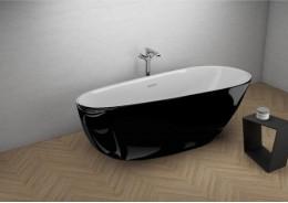 Акрилова ванна SHILA чорна глянцева, 170 x 85 см