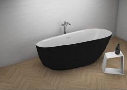 Акрилова ванна SHILA чорна матова, 170 x 85 см