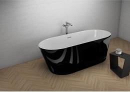 Акрилова ванна UZO чорна глянцева, 160 x 80 см