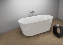Акрилова ванна UZO сіра, 160 x 80 см