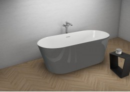 Акрилова ванна UZO графітова, 160 x 80 см