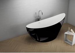 Акрилова ванна ZOE чорна глянцева, 180 x 80 см