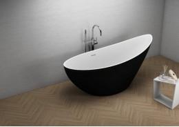 Акрилова ванна ZOE чорна матова, 180 x 80 см