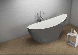Акрилова ванна ZOE графітова, 180 x 80 см