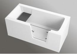 Акрилова ванна з дверцятами AVO, 140 x 70 см