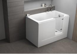 Акрилова ванна з дверцятами PERE біла, 130 x 75 см